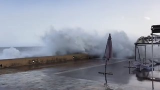 Island of Corsica Pounded by Storm Adrian - Video