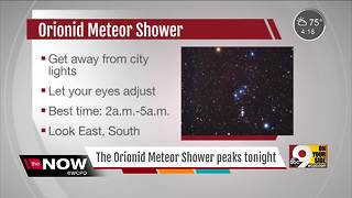 Orionid Meteor Shower peaks Friday night - Video