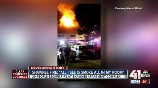 At least 22 people without a home after Shawnee apartment fire - Video