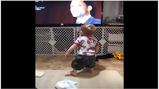 Dancing Baby Loses It To Will Smith's 'Gettin' Jiggy Wit It' - Video
