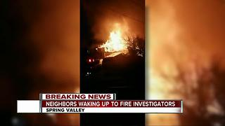 Fire burns Spring Valley home, 4 displaced - Video