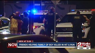 Friends helping family of boy killed in hit and run