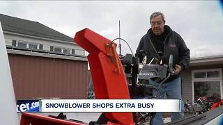 Snow blower shops are extra busy - Video