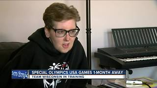 Special Olympic athletes from WI
