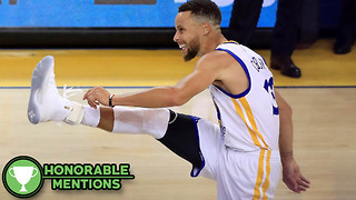 Steph Curry KICKS Basketball into the Hoop! -HM - Video