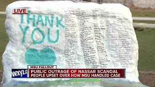 Public outrage of Nassar scandal, people upset over how MSU handled case