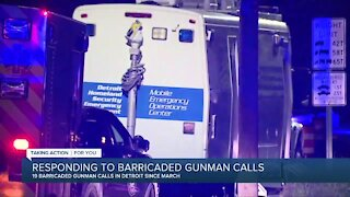 DPD barricaded gunman calls up from last year, bulk of calls occurring since March