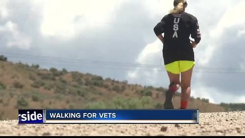 California woman running across country for vets reaches Idaho