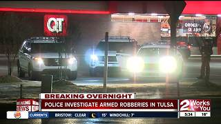 Series of armed robberies in Tulsa