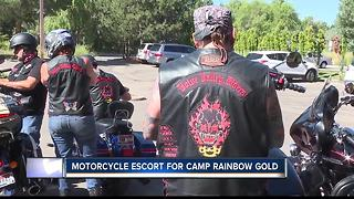 Boise Valley Riders Motorcycle Club escorts Rainbow Gold Campers - Video