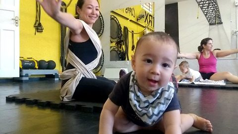 Gym babies add weight to mums' exercises