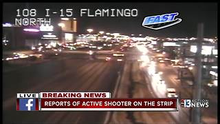Reports of active shooter on Las Vegas Strip
