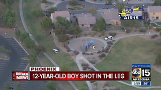Boy shot in the leg at Phoenix park in critical condition - Video