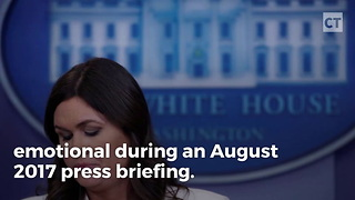 Emotional Sarah Sanders Reads Touching Letter - Video