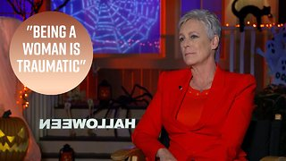 Jamie Lee Curtis gets emotional talking about trauma in 'Halloween' - Video