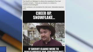 Sheriff Clarke taunts man with meme on Facebook, calls him