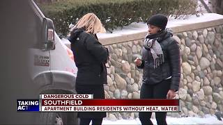 Southfield apartment building without heat, water - Video
