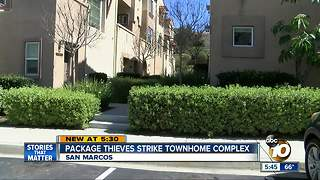 Package thieves strike townhome complex - Video