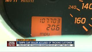 Police arrest car salesman for tampering with odometers - Video