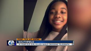 14-year-old girl killed in car-pedestrian accident on Telegraph Road - Video