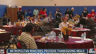 Metropolitan Ministries feeds 6,000 during Thanksgiving feast - Video
