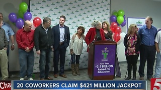 20 Tennessee Co-Workers Claim $421M Jackpot - Video