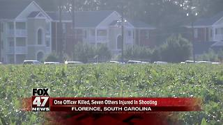 1 officer killed, 6 other officers wounded in SC shooting, suspect in custody