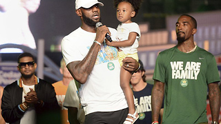 LeBron James calls out President Trump during foundation event at Cedar Point - Video