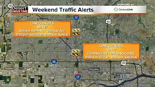 Valley road closures this weekend - Video