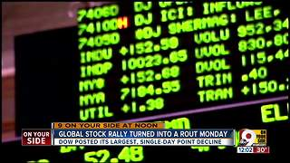 Global stock rally turned into a rout Monday - Video