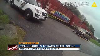 Caught on video: Train crashes into Pasco accident scene - Video