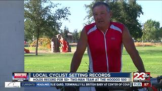Local Cyclist Setting Records - Video