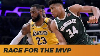 Race For NBA MVP: Lebron James v Giannis Antetokounmpo