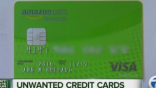 Warning about unwanted credit cards and identity theft. - Video