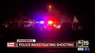 Police investigating shooting near 15th Avenue and Osborn Road - Video