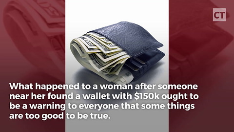 "Woman Scammed Over ""Found"" Wallet"