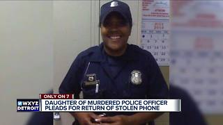 Daughter of murdered police officer pleads for return of stolen phone - Video