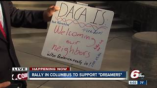 Rally in Columbus opposes DACA decision - Video