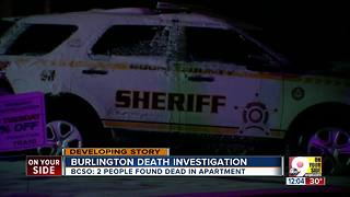 Two people found dead in Burlington apartment - Video