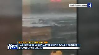 Multiple fatalities after duck boat capsizes in Branson, Missouri - Video