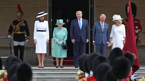 Trump Meets Queen At Buckingham Palace In Official State Visit To U.K.