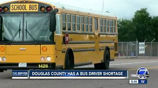 Douglas County school facing bus driver shortage - Video