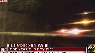 A child is dead after being struck at PHX mobile home park - Video
