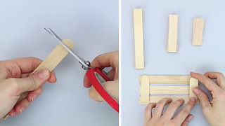 How to create a miniature wooden crate - Video