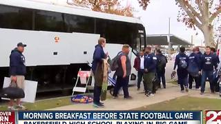 Locals provides breakfast for BHS football team before the big game - Video