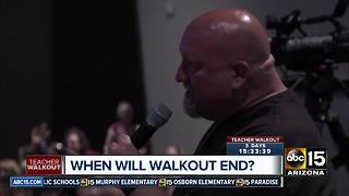 Parents question Arizona teachers over walkout movement - Video
