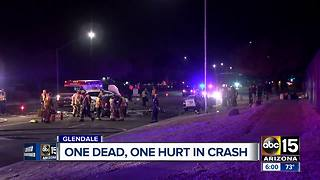 Deadly crash in Glendale left 1 dead and another injured - Video
