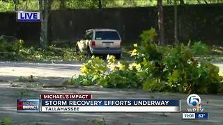 Cleanup underway in Tallahassee after Hurricane Michael slams Florida Panhandle