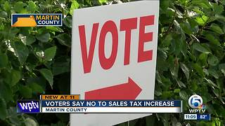 Martin County voters shoot down referendum to increase sales tax - Video