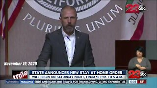 Governor Gavin Newsom issues new stay at home order